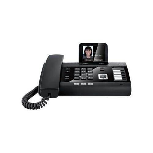 Gigaset DL500A - Schnurlostelefon - Anrufbeantworter mit Rufnummernanzeige/Anklopffunktion - Produktbild Front View L