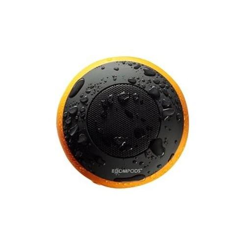 Boompods Aquapod - Lautsprecher - tragbar - kabellos - Bluetooth - Schwarz/Orange Produktbild Front View L