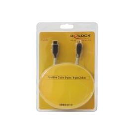 DeLOCK - IEEE 1394-Kabel - FireWire 800 (M) bis FireWire, 4-polig (M) - 2 m Produktbild