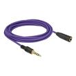 DeLOCK - Audioverlängerungskabel - 4-poliger Mini-Stecker (W) bis 4-poliger Mini-Stecker (M) - 3 m - violett Produktbild