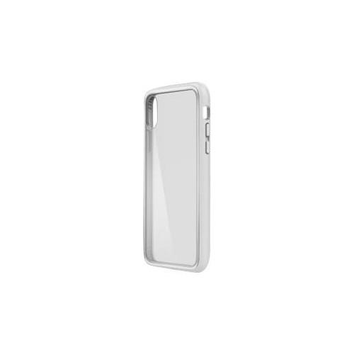Belkin SheerForce Elite - Hintere Abdeckung für Mobiltelefon - Polycarbonat - Silber - für Apple iPhone Produktbild Front View L