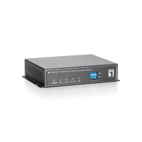 LevelOne VDS-0110 - Netzwerkextender - 100Mb LAN, Ethernet over VDSL2 - 10Base-T, 100Base-TX - bis zu 350 m Produktbild Additional View 1 L
