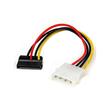 StarTech.com 15cm 4-Pin Molex auf SATA Kabel links gewinkelt - Stecker/Buchse - Netzteil - SATA Leistung (M) bis interne Produktbild