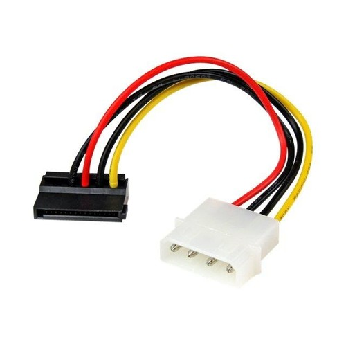 StarTech.com 15cm 4-Pin Molex auf SATA Kabel links gewinkelt - Stecker/Buchse - Netzteil - SATA Leistung (M) bis interne Produktbild Additional View 1 L