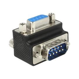 DeLOCK - Serieller Adapter - DB-9 (W) bis DB-9 (M) - 270° Stecker, Daumenschrauben - Schwarz Produktbild