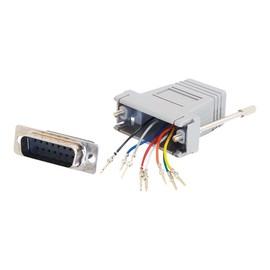 C2G Modular Adapter - Serieller Adapter - RJ-45 (W) bis DB-15 (W) - Grau Produktbild