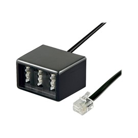 goobay - Netzwerkadapter - TAE-NFN (W) bis RJ-11/RJ-14 (M) - 20 cm - flach - Schwarz Produktbild