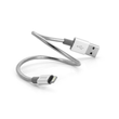 Verbatim Stainless Steel Sync & Charge Lightning - USB-Kabel - USB (M) bis Lightning (M) - 1 m - Silber Produktbild Additional View 1 S