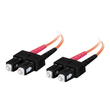 C2G Low-Smoke Zero-Halogen - Patch-Kabel - SC multi-mode (M) bis SC multi-mode (M) - 3 m - Glasfaser - Produktbild