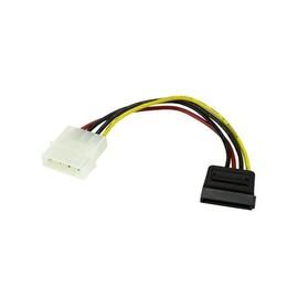 StarTech.com 15cm 4 Pin Molex auf SATA Kabel - LP4 / Serial-ATA Stromadapter - S-ATA 15 Pin Buchse / 4 Pin LP-4 Stecker Produktbild