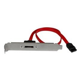 StarTech.com 45cm 1 Port SATA auf eSATA Slotblech Adapter - Buchse/Stecker - SATA-Blende, intern/extern - Serial ATA Produktbild
