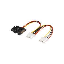 goobay - Netzteil - interne Stromversorgung, 4-polig (W) bis SATA Leistung (W) - 20 cm Produktbild