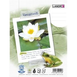 Collegeblock A4 kariert 4-fach Lochung Rand links 80Blatt 70g Recycling Landré 100050220 Produktbild