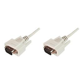 ASSMANN - Kabel seriell - DB-9 (M) bis DB-9 (M) - 2 m - geformt, Daumenschrauben - beige Produktbild