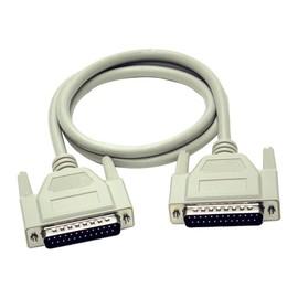 C2G - Serielles/paralleles Verlängerungskabel - DB-25 (M) bis DB-25 (W) - 15 m - geformt, Daumenschrauben Produktbild
