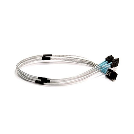 Supermicro CBL-0116L - SATA- / SAS-Kabel - Überkreuzung - 4-Lane - Mini SAS (SFF-8087) (M) bis SATA (W) - 50 cm Produktbild