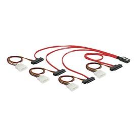 DeLOCK - Internes SAS-Kabel - 4-Lane - 36 PIN 4iMini MultiLane (M) bis interne Stromversorgung, 4-polig, interne SAS, Produktbild