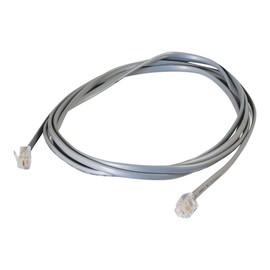 C2G RJ11 6P4C Straight Modular Cable - Telefonkabel - RJ-11 (M) bis RJ-11 (M) - 3 m - Grau Produktbild
