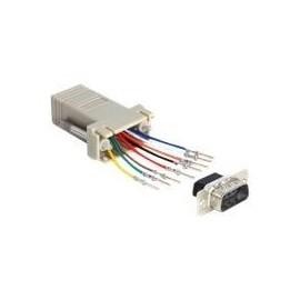DeLOCK Adapter Sub-D 9 Pin male > RJ45 female assembly kit - Serieller Adapter - RJ-45 (W) bis DB-9 (M) Produktbild