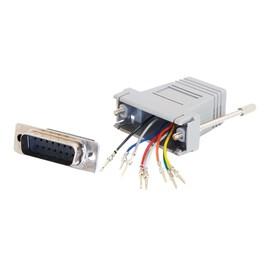 C2G Modular Adapter - Serieller Adapter - RJ-45 (W) bis DB-15 (M) - Grau Produktbild
