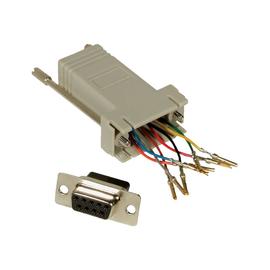 C2G Modular Adapter - Serieller Adapter - RJ-45 (W) bis DB-9 (W) - Rot Produktbild