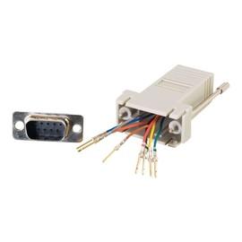 C2G Modular Adapter - Serieller Adapter - RJ-45 (W) bis DB-9 (M) - Grau Produktbild