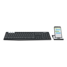 Logitech K375s Multi-Device - Tastatur - Bluetooth, 2.4 GHz - German QWERTZ - Graphite, Off-White Produktbild
