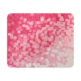 LogiLink Mouse Pad Red Pattern - Mauspad - Metallic-Effect, rotes Muster Produktbild