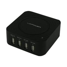 LC Power - Netzteil - 2.1 A - 4 Ausgabeanschlussstellen (USB) - Schwarz Produktbild