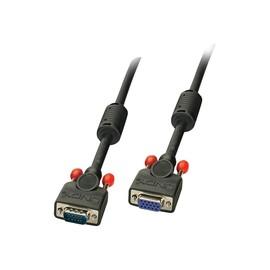 Lindy - VGA-Verlängerungskabel - HD-15 (VGA) (W) bis HD-15 (VGA) (M) - 1 m - geformt, Daumenschrauben - Schwarz Produktbild