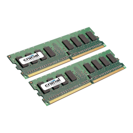 Crucial - DDR2 - 2 GB: 2 x 1 GB - DIMM 240-PIN - 800 MHz / PC2-6400 - CL6 Produktbild
