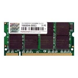 Transcend - DDR - 1 GB - SO DIMM 200-PIN - 333 MHz / PC2700 - CL2.5 Produktbild