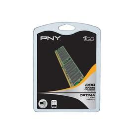 PNY - DDR - 1 GB - DIMM 184-PIN - 400 MHz / PC3200 - ungepuffert Produktbild