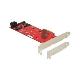 DeLOCK PCI Express Card > 2 x internal M.2 NGFF - Schnittstellenadapter - M.2 Low Profile - PCIe 3.0 x4 Produktbild