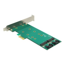 DeLOCK PCI Express Card > 2 x internal M.2 - Speicher-Controller - M.2 Card / SATA 6Gb/s Low-Profile - 6 Gbit/s - PCIe Produktbild