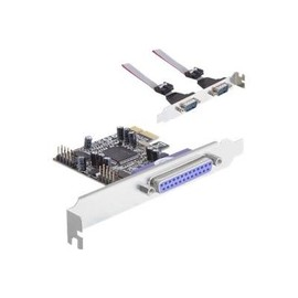 DeLock PCI Express Card - Adapter Parallel/Seriell - PCIe - parallel, RS-232 - 3 Anschlüsse Produktbild