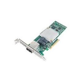 Microsemi Adaptec HBA 1000 8i8e - Speicher-Controller - 16 Sender/Kanal - SATA 6Gb/s / SAS 12Gb/s Low-Profile - 12 Produktbild