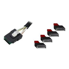 Intel - SATA- / SAS-Kabel - SATA (W) bis Mini SAS (SFF-8087) (M) - 48 cm (Packung mit 2) Produktbild