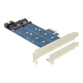 DeLOCK PCI Express Card > 2 x internal M.2 NGFF - Speicher-Controller - USB 2.0 / M.2 Card / SATA 6Gb/s Low-Profile - 6 Produktbild
