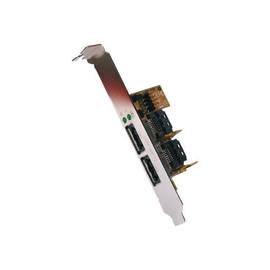 Exsys EX-11069 - Speicher-Controller - 2 Sender/Kanal - USB 2.0 / eSATA 3Gb/s - SATA 3Gb/s, USB 2.0 Produktbild