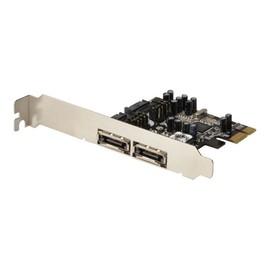 DIGITUS DS-30102 - Speichercontroller (RAID) - eSATA 3Gb/s Low-Profile - 3 Gbit/s - RAID 0, 1, 0+1 - PCIe Produktbild