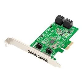 Dawicontrol DC 624e RAID - Speichercontroller (RAID) - 4 Sender/Kanal - SATA 6Gb/s Low-Profile - Produktbild