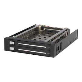 StarTech.com SATA Hot Swap Wechselrahmen trägerlos - Mobiles Festplatten Speicher Rack 2x 6,4cm Produktbild