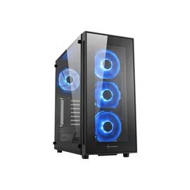 Sharkoon TG5 RGB - Midi Tower - ATX - ohne Netzteil - Schwarz, RGB - USB/Audio Produktbild