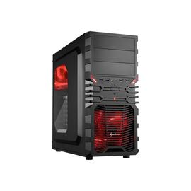 Sharkoon VG4-W - Midi Tower - ATX - ohne Netzteil - Schwarz, Rot - USB/Audio Produktbild