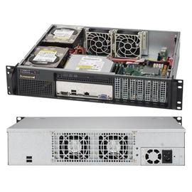 Supermicro SC523 L-505B - Rack - einbaufähig - 2U - ATX 500 Watt - Schwarz Produktbild