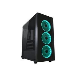 LC Power Gaming 995B Light Box - Midi Tower - ATX - ohne Netzteil - Schwarz, durchsichtig - USB/Audio Produktbild