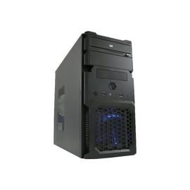 LC Power 2001MB - Mini Tower - mini ITX / micro ATX 420 Watt (ATX12V 1.3) - Schwarz - USB/Audio Produktbild