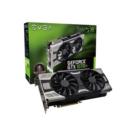 EVGA GeForce GTX 1070 Ti FTW ULTRA SILENT GAMING ACX 3.0 - Grafikkarten - GF GTX 1070 Ti - 8 GB GDDR5 - PCIe 3.0 - Produktbild