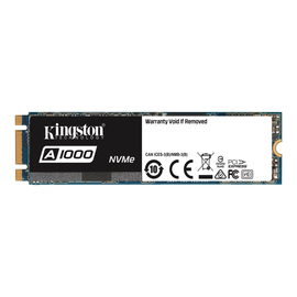 Kingston A1000 - Solid-State-Disk - 480 GB - intern - M.2 2280 - PCI Express 3.0 x2 (NVMe) Produktbild